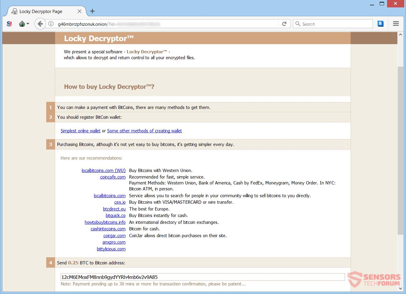 Archivo de virus asesino (Locky) - Retire y restaurar los archivos ...