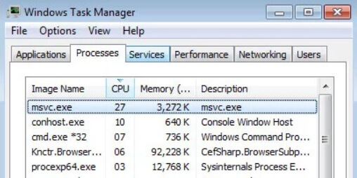 msvc.exe CPU trojan miner