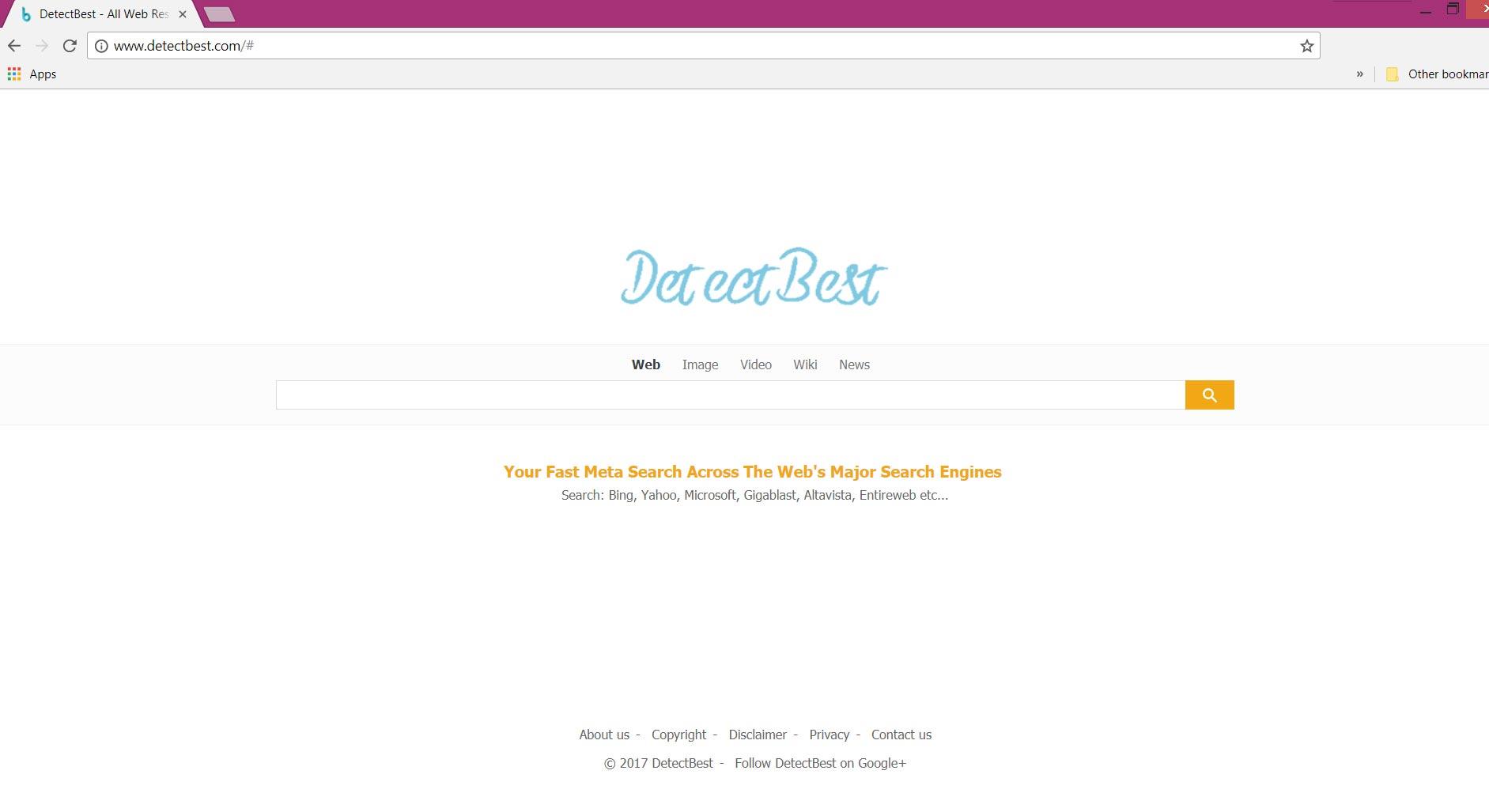 Detectbest.com browser hijacker homepage sensorstechforum