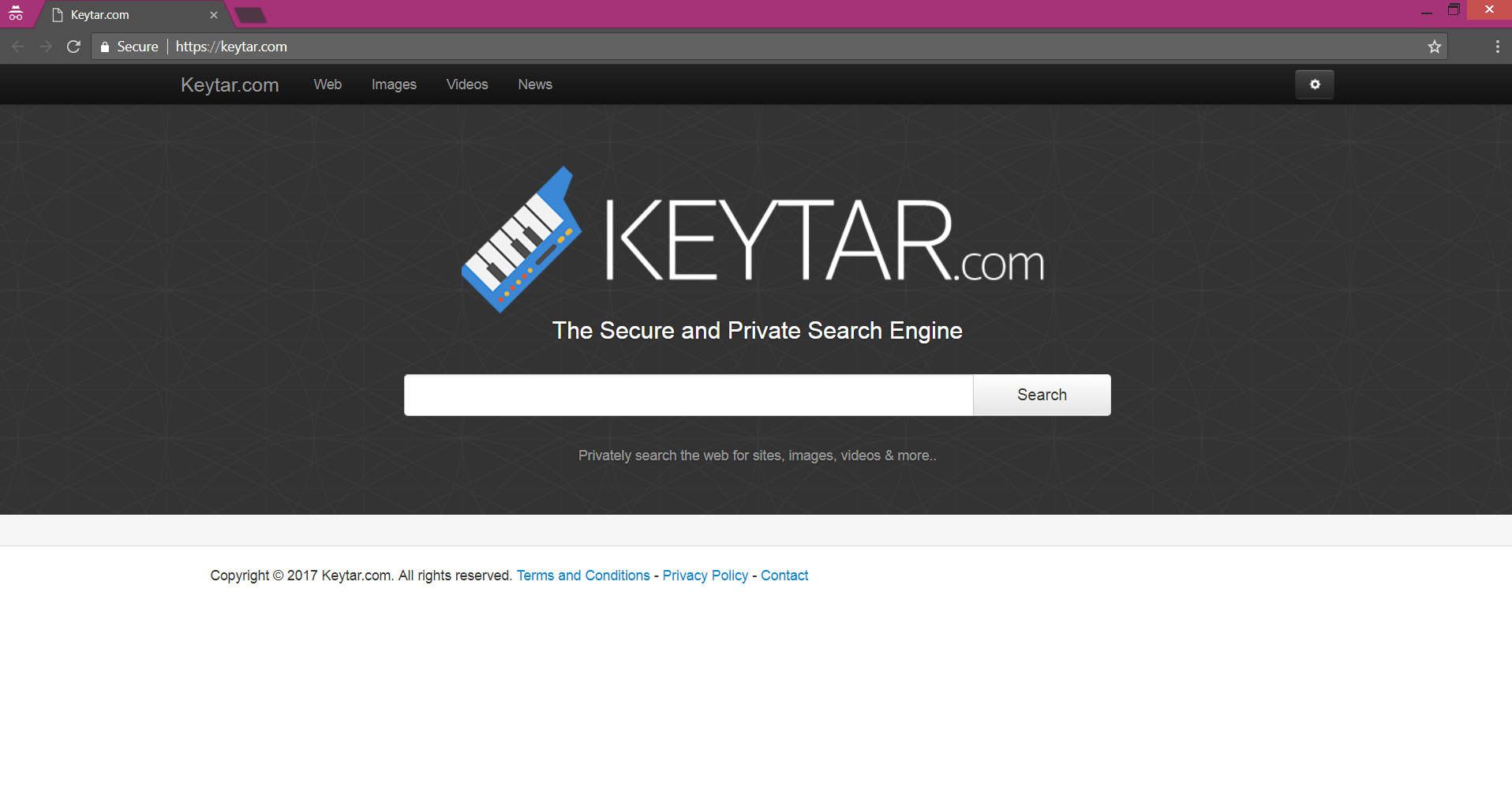 Keytar.com browser hijacker homepage