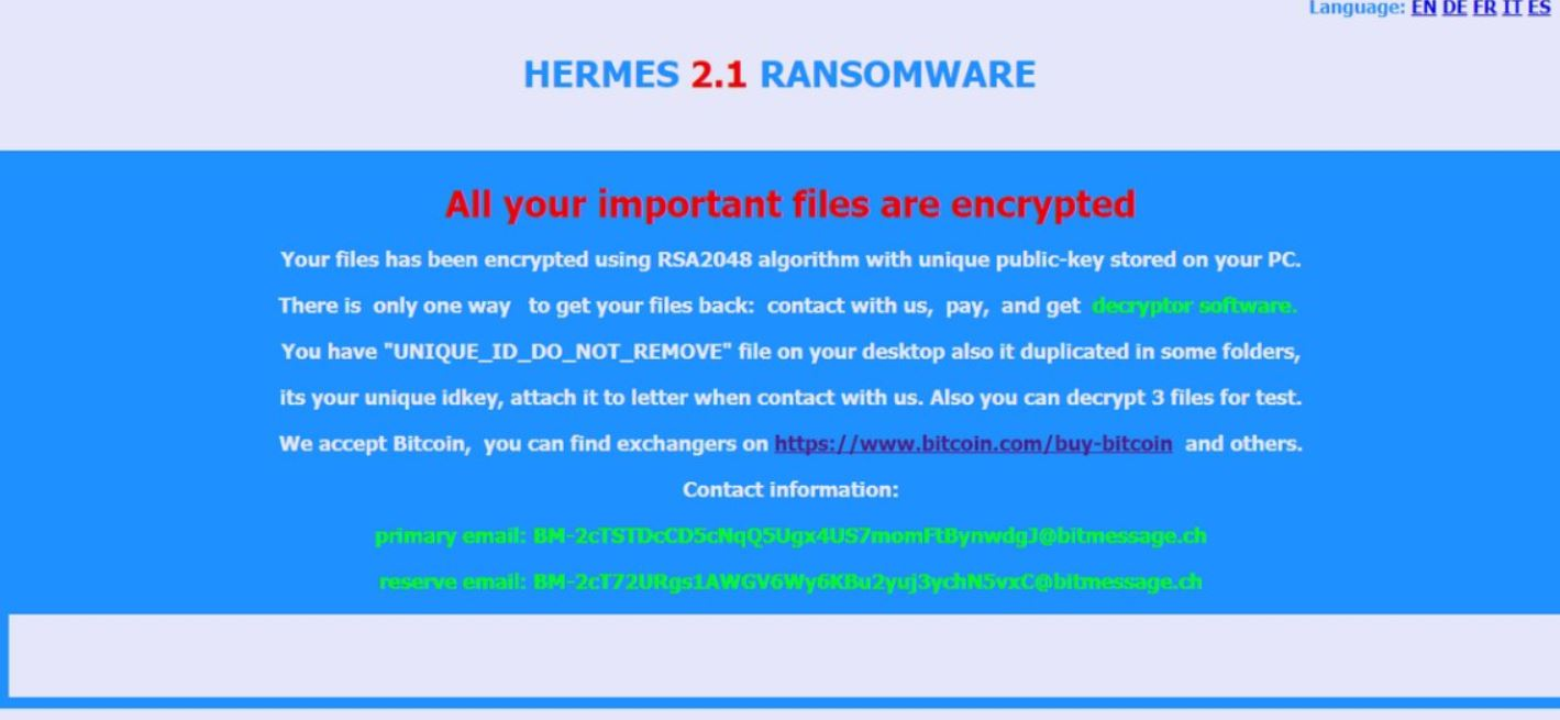 HRM Files Virus (Hermes 2 1) – How to Remove and Restore Files