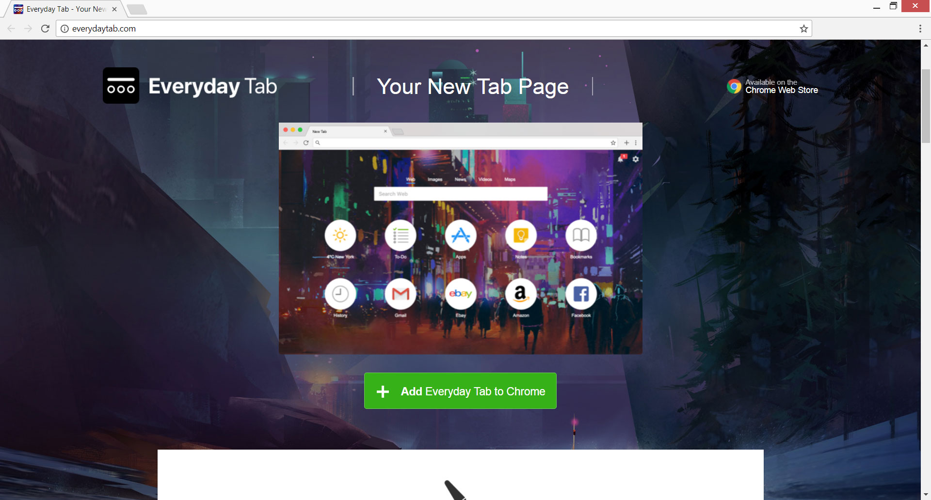 Everyday Tab browser hijacker everydaytab.com homepage