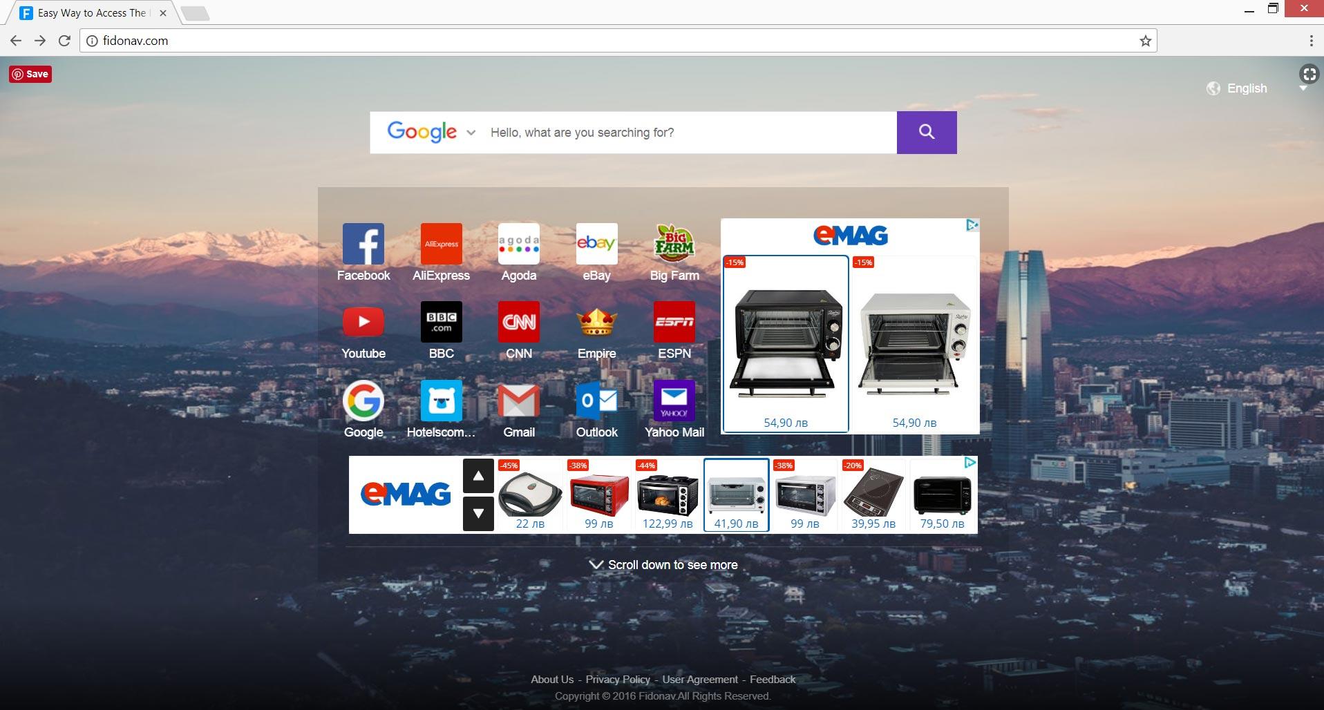 Fidonav.com reindirizzare homepage setf