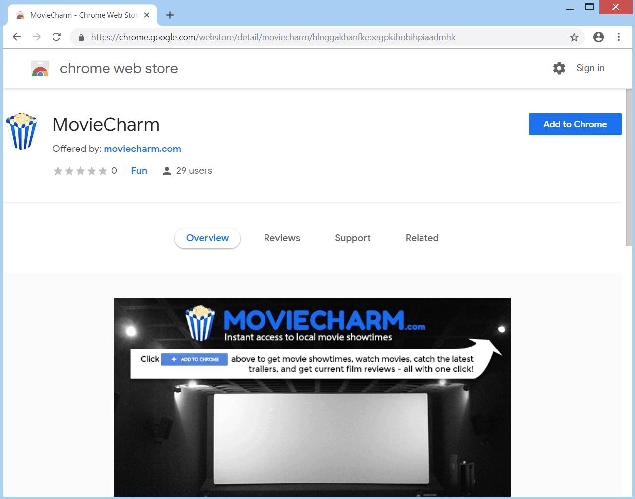 Retire MovieCharm.com secuestrador del navegador