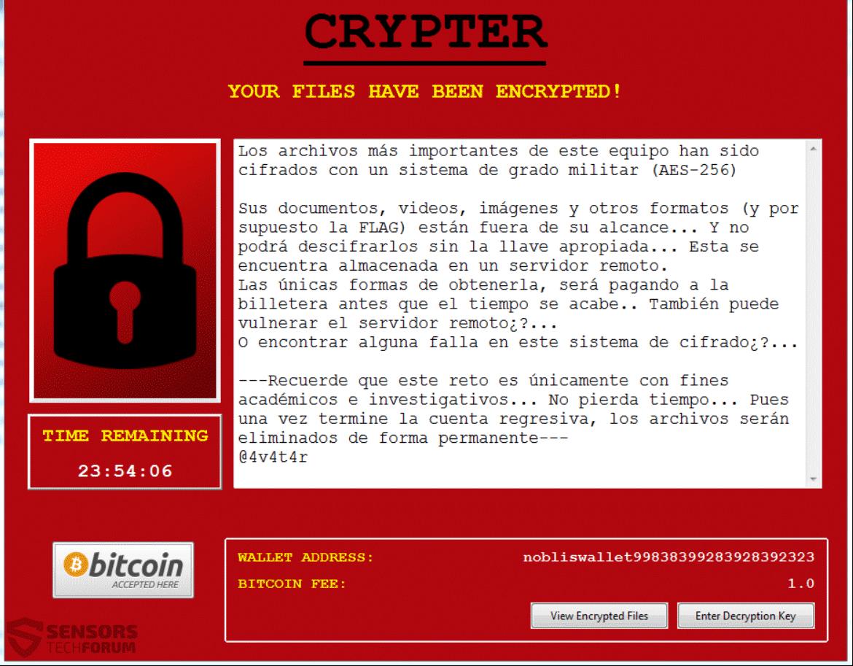Retire ransomware Noblis - Restaurar archivos .Noblis