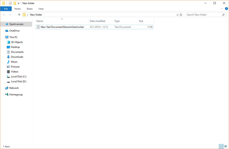 .RansomUserLockere virus dati remove decrypt