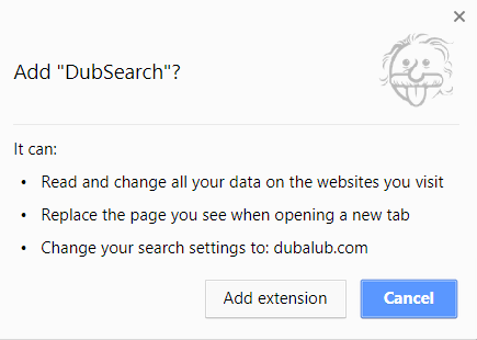 dubsearch browser extension chrome webstore stf
