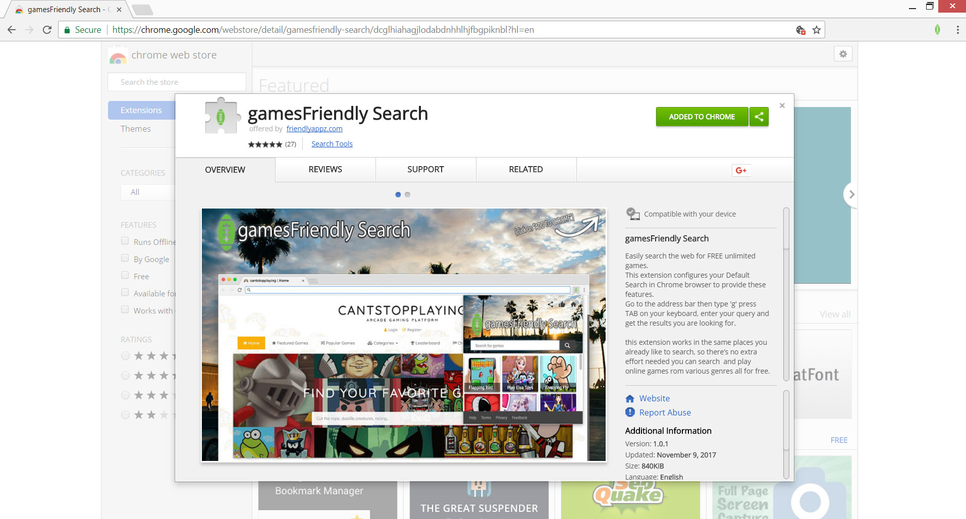 gamesfriendly-search-browser-extension-chrome-web-store-stf