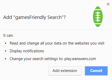 gamesfriendly search browser extension modifications