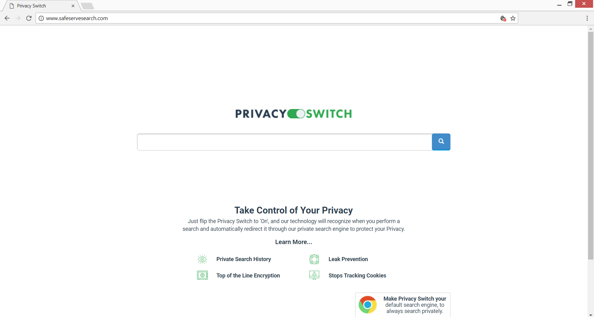 privacy switch safeservesearch.com hoax search engine stf