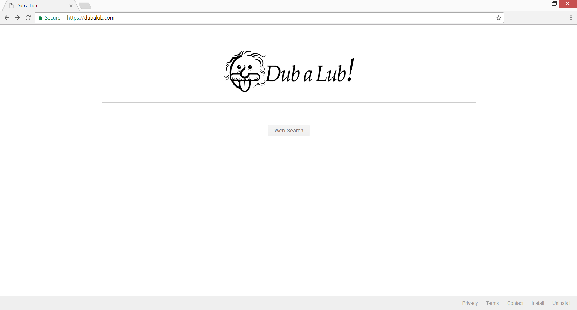 remove dubalub.com redirect homepage hoax search engine stf