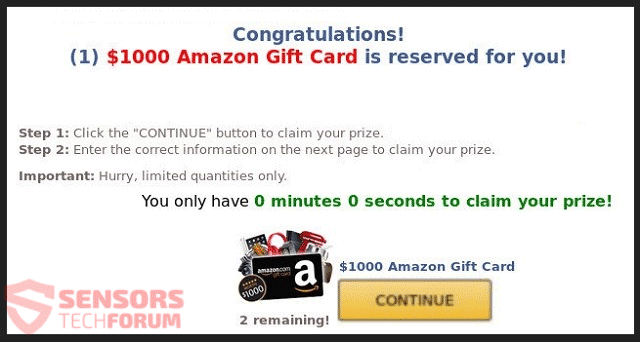 $1000 Amazon Gift Card Scam – How to Get Rid of It?