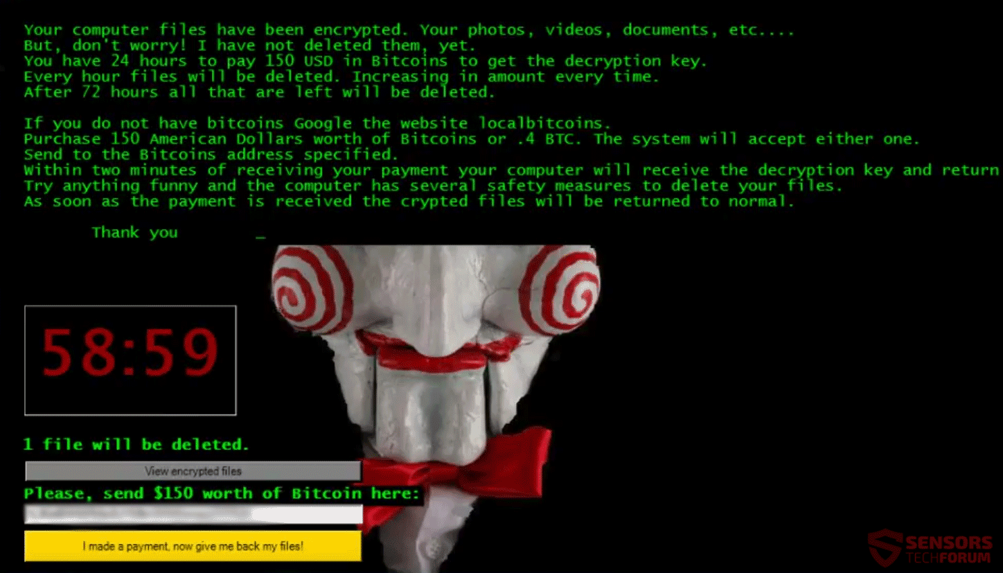 Cryptwalker file virus jigsaw remove it and restore files ccuart Choice Image