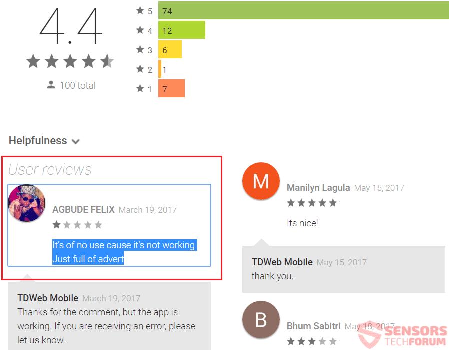 uninstall flashlight app on android