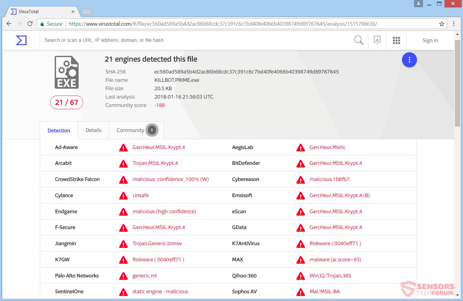 Remove KillBot Ransomware - Restore Files