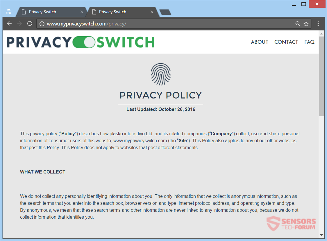 stf-privacy-switch-browser-hijacker-redirect-privacy-policy