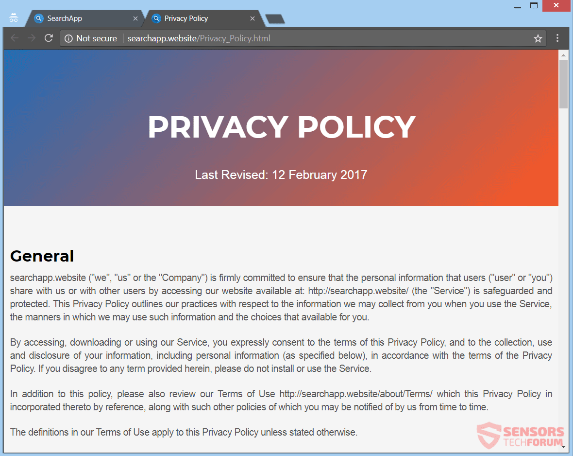 Dating site privacy policy