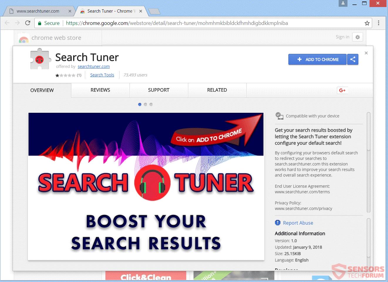 Entfernen SearchTuner.com Redirect