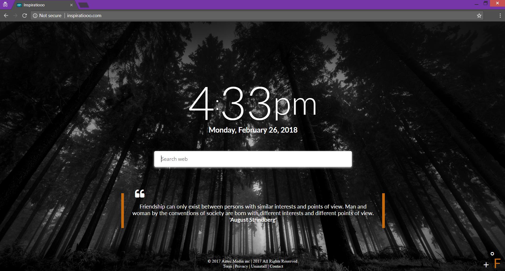 inspiratiooo.com Browser-Hijacker Hauptseite