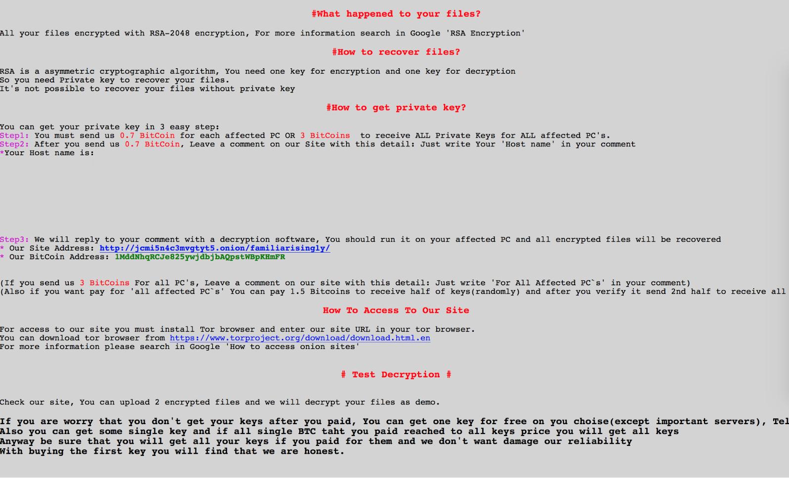 Virus weapologize Archivos (Sam Sam) - Cómo quitar - Restaurar archivos