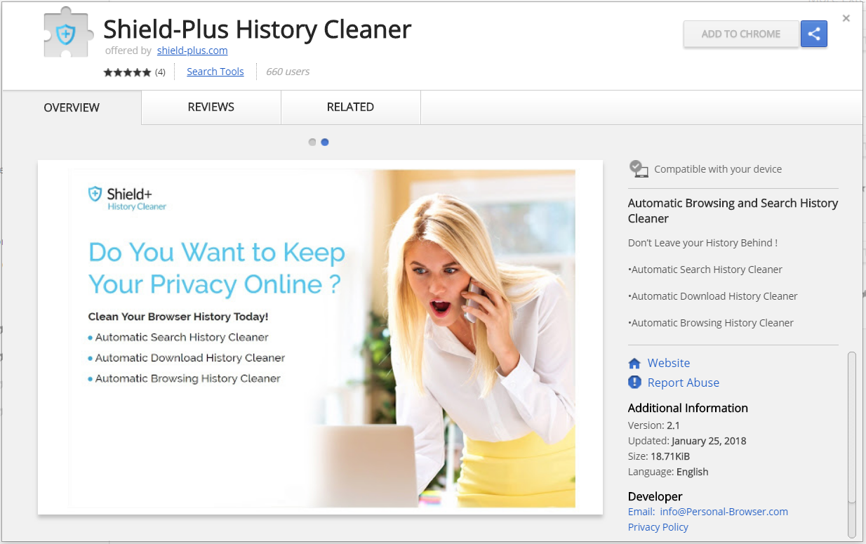 shield-plus browser extesion chrome web store