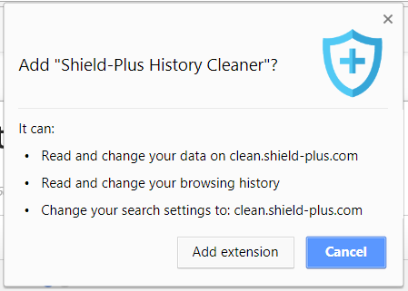 shield-plus history cleaner browser extension capabilities