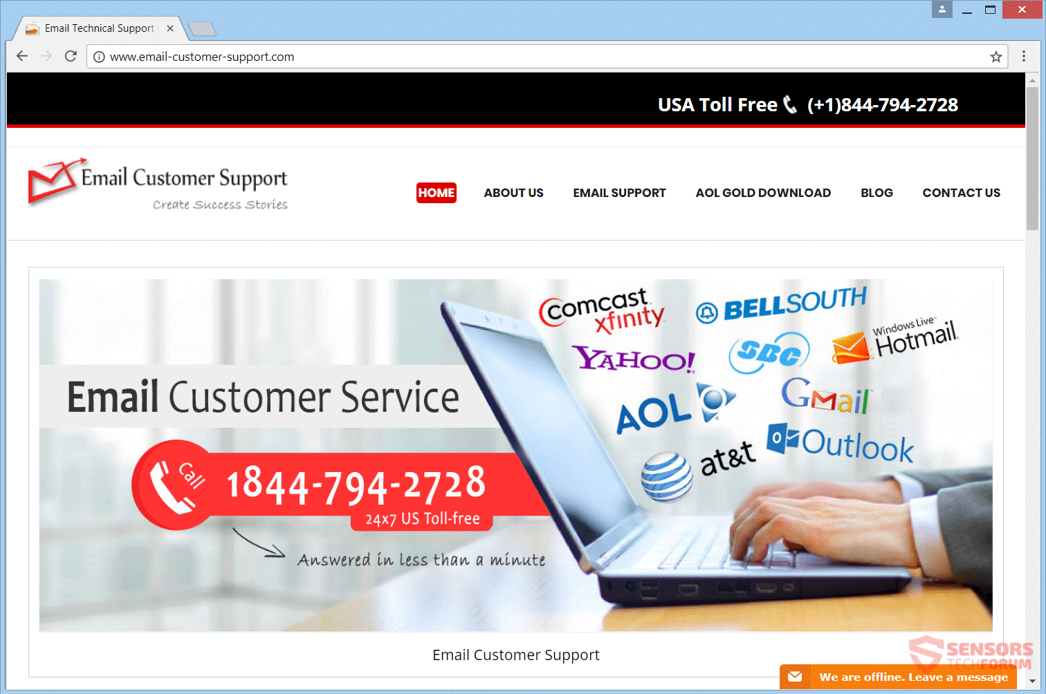 Remove Email-customer-support com Scam