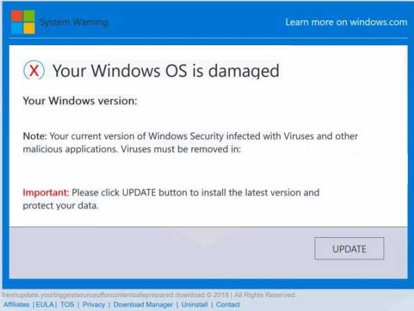 Your Windows OS is damaged
