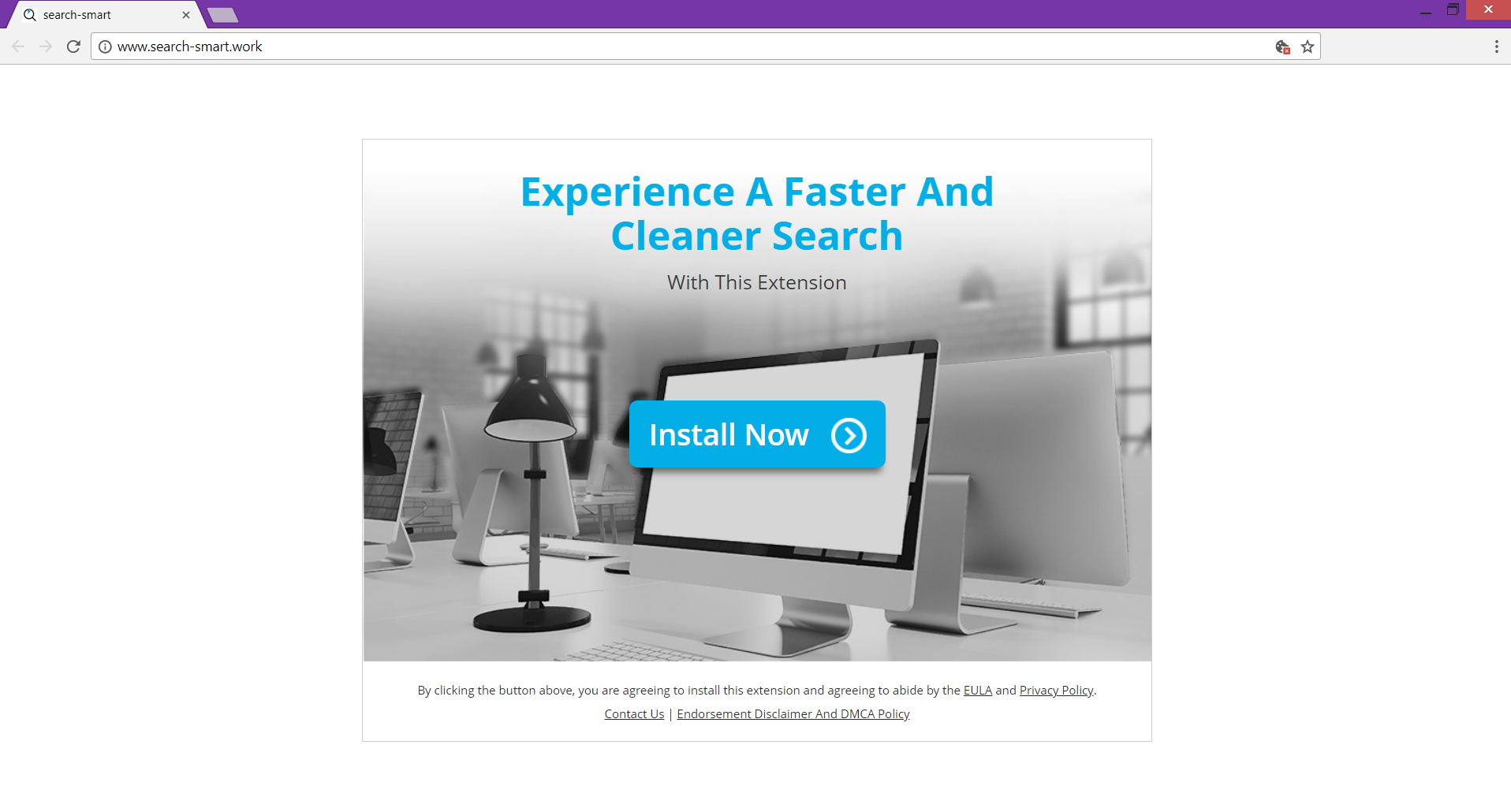 Search-smart.work redirect main page
