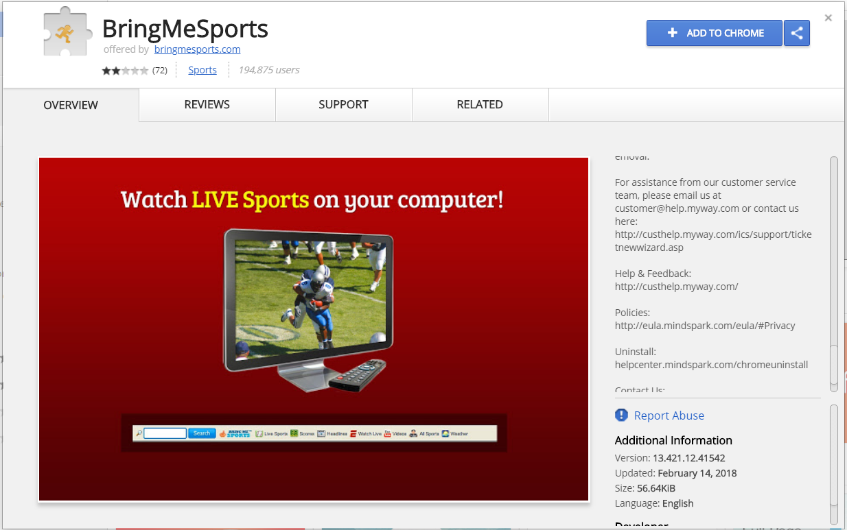 bringmesports browser extension chrome web store