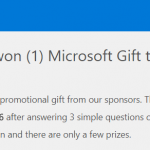 remove You have won (1) Microsoft Gift today! scam