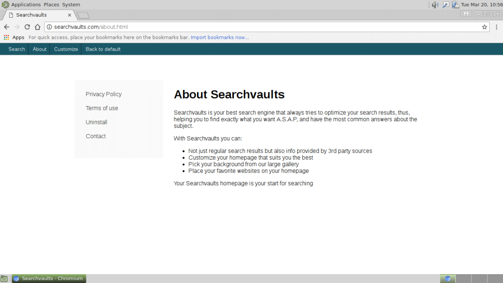 Searchvaults.com redirect