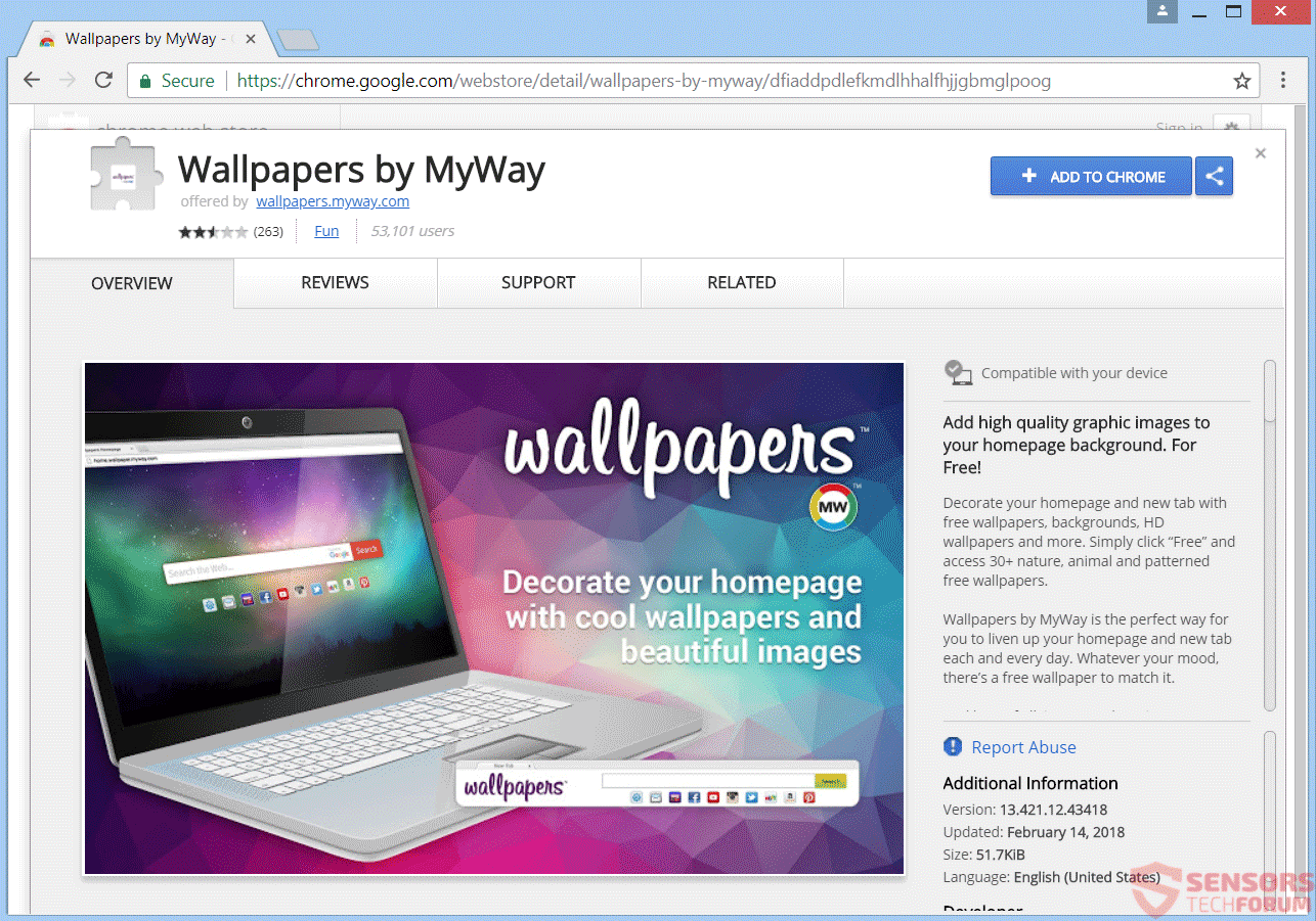 Remove redirect how to technology - Chrome web store wallpaper ...