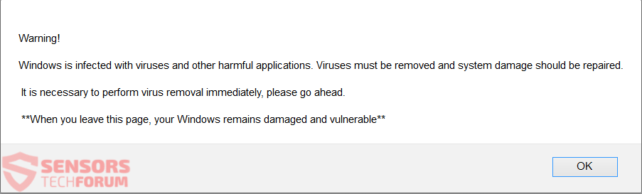 """Remove """" Your System Is Infected With (3) Viruses """" Scam"""