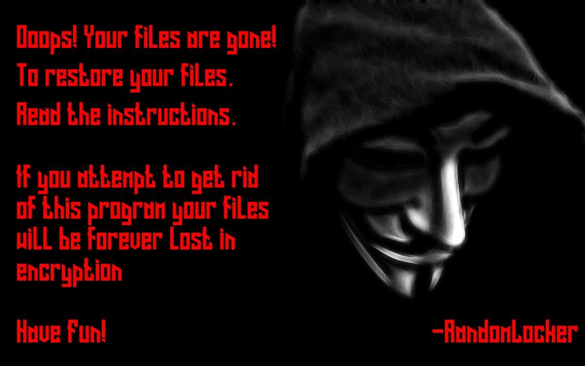 randomlocker ransomware lock screen note