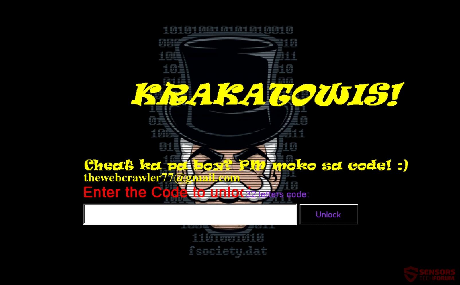 Retire Krakatowis ransomware - Restaurar archivos cifrados