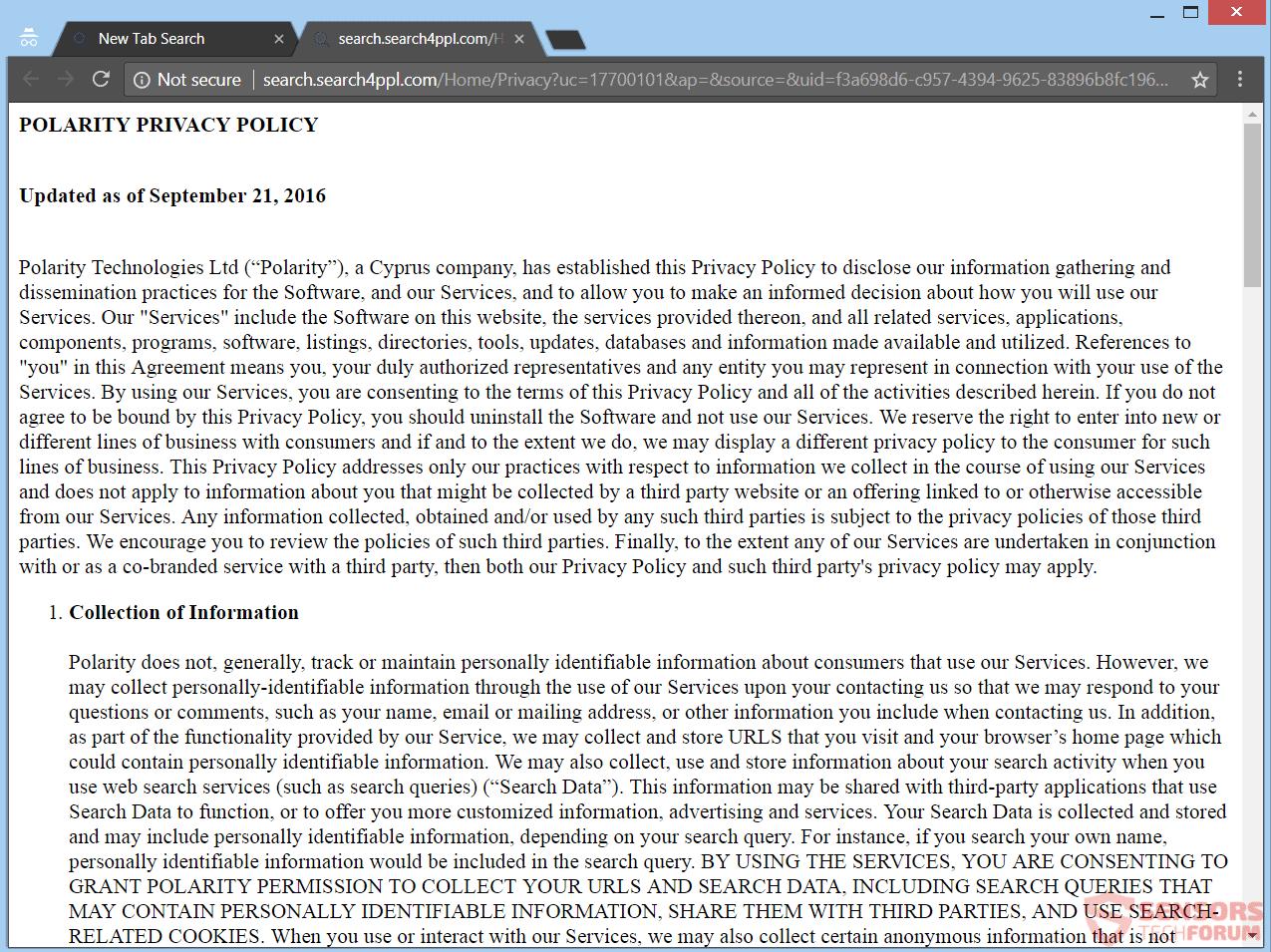 Retire Search4ppl.com redirección
