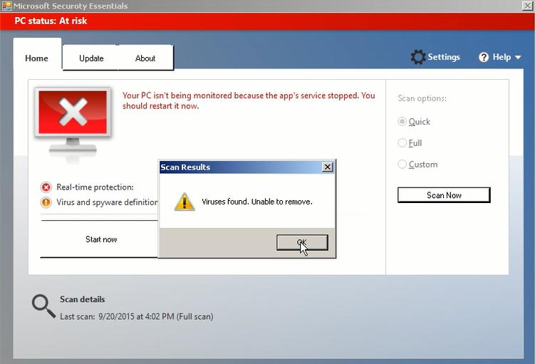 Retirez microsoft securoty essentials fake antivirus for Logiciel anti fenetre publicitaire