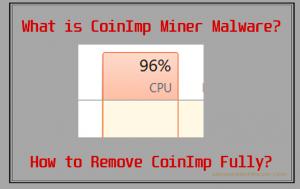 CoinImp Coin Miner Virus (JavaScript) - hvordan du fjerner det og stoppe det
