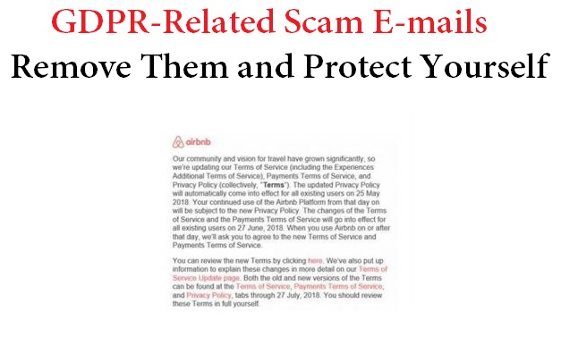 GDPR E-Mail Scam - How to Stop and Remove It from Your PC