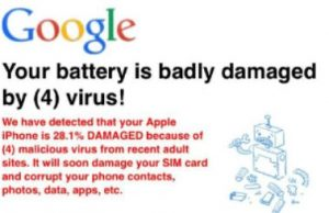 """Your Battery Is Badly Damaged by (4) Virus!"""" Scam – How to Remove It"""