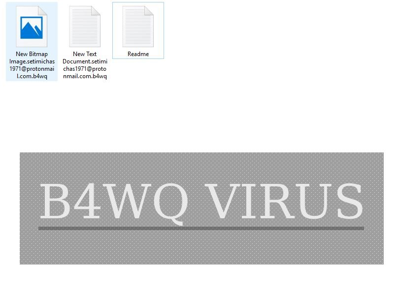 B4WQ Virus image ransomware note .B4WQ extension