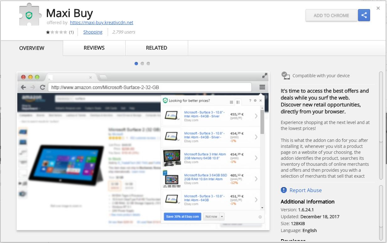 maxy buy suspicious extension on chrome web store sensorstechforum