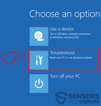 Windows 8 10 Safe Mode Boot Options Step 3 Choose an option 2018