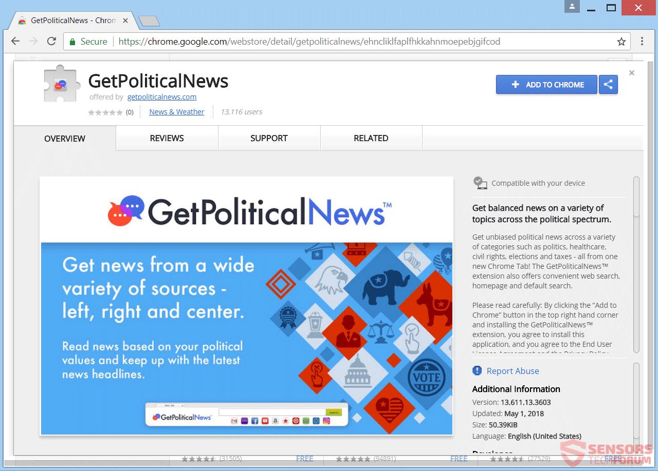 Entfernen Getpoliticalnews Redirect