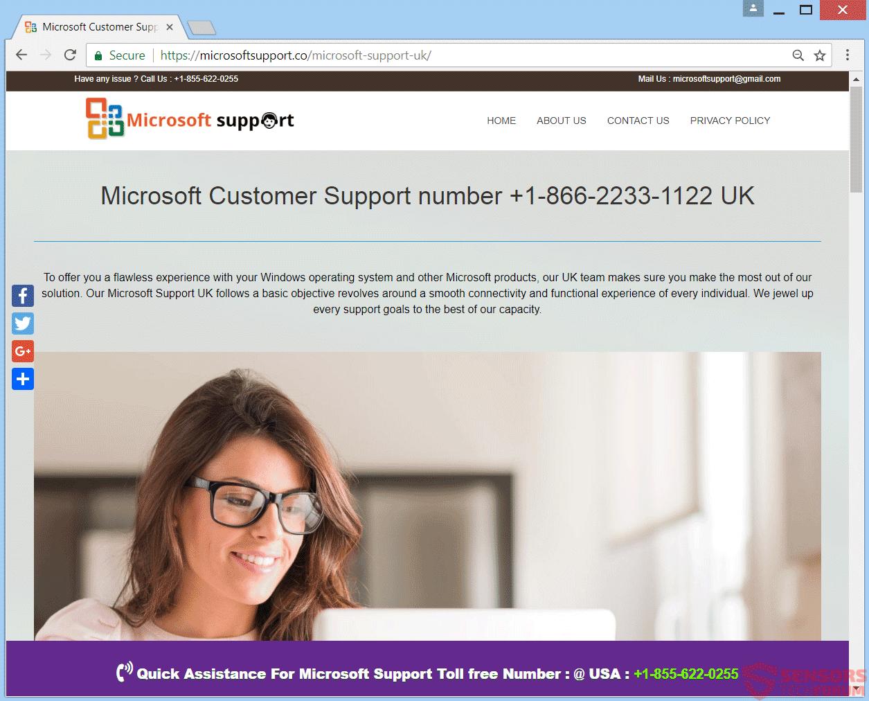 Retire Microsoftsupport.co estafa