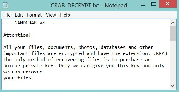 .KRAB Files Virus ? How to Remove GANDCRAB V4 and Restore Data