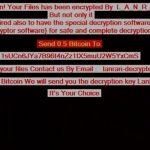 LanRan ransomware desktop ransom message sensorstechforum