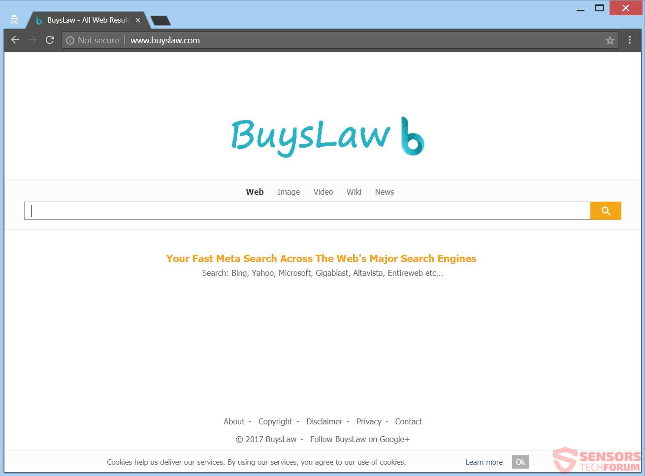 Retire Buyslaw.com redirección