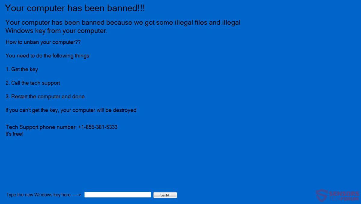 Remove ?Your Computer Has Been Banned? Lockscreen